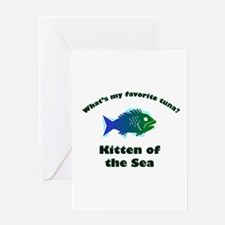 Kitten of the sea Greeting Card