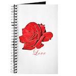 Romantic Red Rose Journal