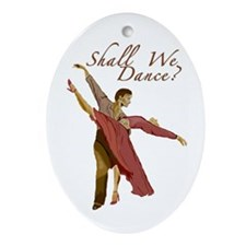 Shall We Dance? Oval Ornament