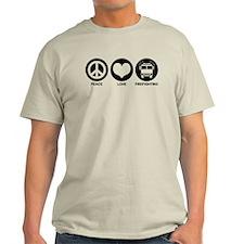 Peace Love Firefighting T-Shirt