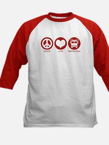 Peace Love Firefighting Tee