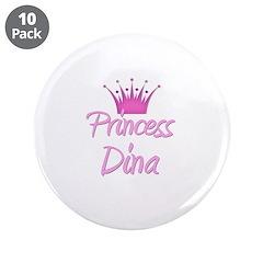 """Princess Dina 3.5"""" Button (10 pack)"""
