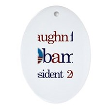 Vaughn for Obama 2012 Oval Ornament