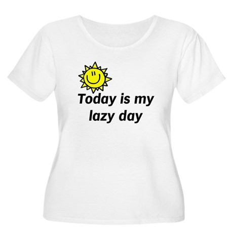 Lazy Day Women's Plus Size Scoop Neck T-Shirt