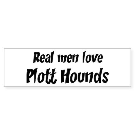 Men have Plott Hounds Bumper Sticker