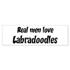 Men have Labradoodles Bumper Sticker (50 pk)