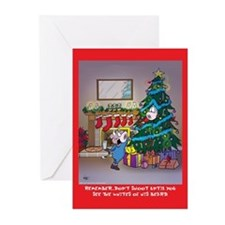 Shoot Santa (Xmas Cards Greeting Cards 10 Pk)