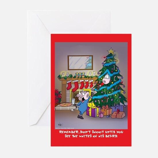 Shoot Santa (Xmas Cards Greeting Cards 10 Pk)