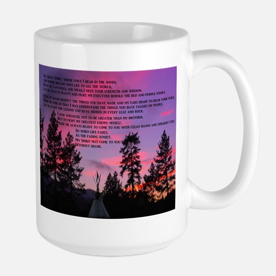 Lakota Great Spirit Prayer Large Mug