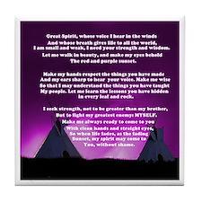 Lakota Great Spirit Prayer Tile Coaster
