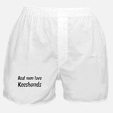 Men have Keeshonds Boxer Shorts