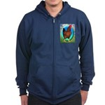 Broiler Opal Chicken Zip Hoodie (dark)