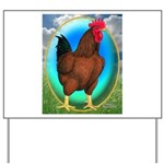 Broiler Opal Chicken Yard Sign