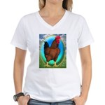 Broiler Opal Chicken Women's V-Neck T-Shirt