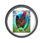 Broiler Opal Chicken Wall Clock