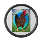 Broiler Opal Chicken Large Wall Clock