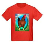 Broiler Opal Chicken Kids Dark T-Shirt
