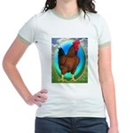 Broiler Opal Chicken Jr. Ringer T-Shirt