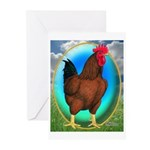 Broiler Opal Chicken Greeting Cards (Pk of 20)