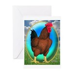 Broiler Opal Chicken Greeting Card