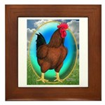 Broiler Opal Chicken Framed Tile