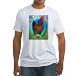 Broiler Opal Chicken Fitted T-Shirt