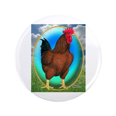 """Broiler Opal Chicken 3.5"""" Button"""