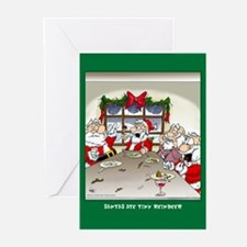Ate Reindeer (Xmas Cards Greeting Cards 10 Pk)
