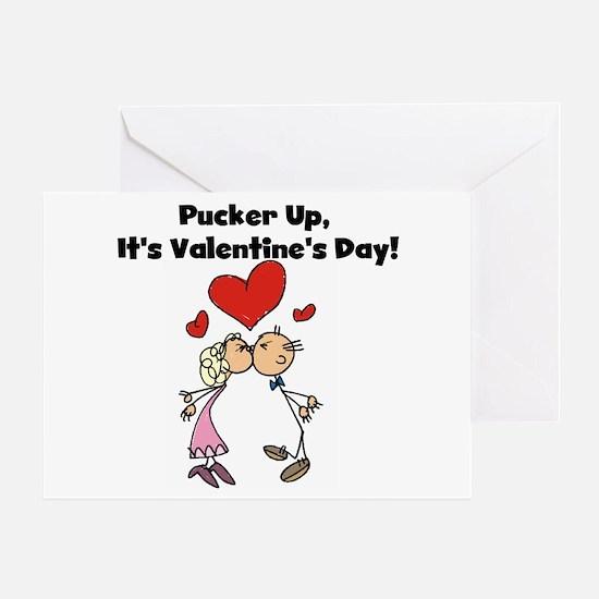 Pucker Up Valentine Greeting Card