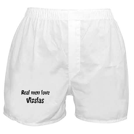 Men have Vizslas Boxer Shorts