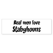 Men have Stabyhouns Bumper Bumper Sticker