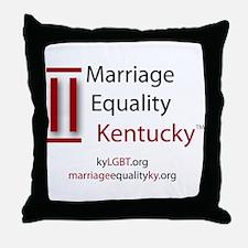 Marriage Equality Kentucky Throw Pillow
