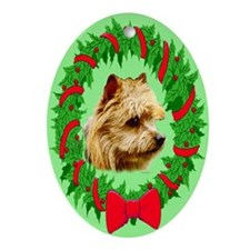 Australian terrier Oval Ornament