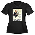 Join the Navy Women's Plus Size V-Neck Dark T-Shir