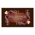 Progressive Tolerance Rectangle Sticker 50 pk)