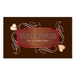 Progressive Tolerance Rectangle Sticker 10 pk)