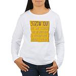 Funny Bailout Women's Long Sleeve T-Shirt