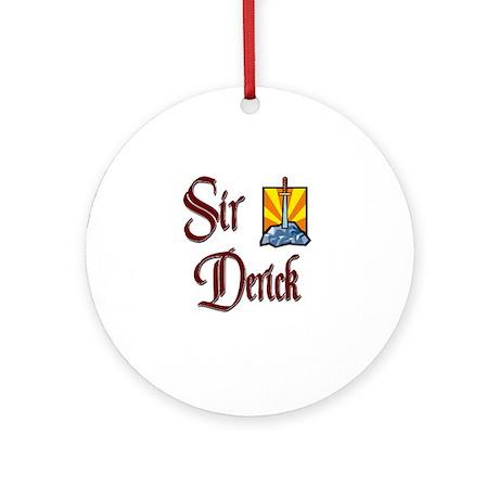 Sir Derick Ornament (Round)