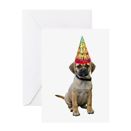Puggle Birthday Card