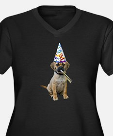 Puggle Party Women's Plus Size V-Neck Dark T-Shirt