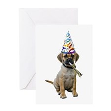 Puggle Party Greeting Card