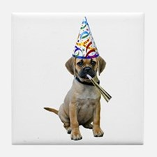 Puggle Party Tile Coaster