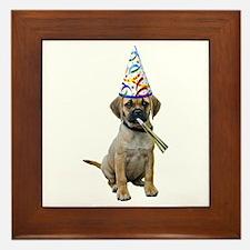 Puggle Party Framed Tile