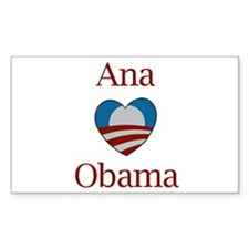 Ana Loves Obama Rectangle Decal
