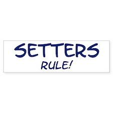 Setters Rule Bumper Bumper Sticker