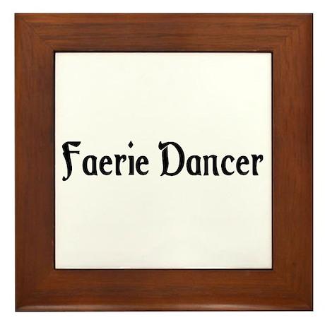 Faerie Dancer Framed Tile