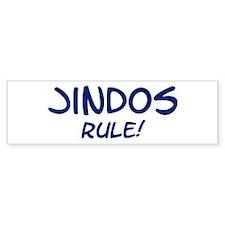 Jindos Rule Bumper Bumper Sticker