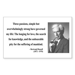 Bertrand Russell 7 Rectangle Decal
