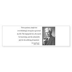 Bertrand Russell 7 Bumper Sticker
