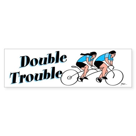 Tandem Cyclist Bumper Sticker
